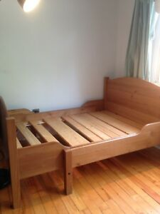 IKEA solid wood extendable bed frame