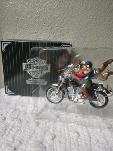 Harley-Davidson Christmas Ornament Collection Elves to the Rescue 1997New In Box