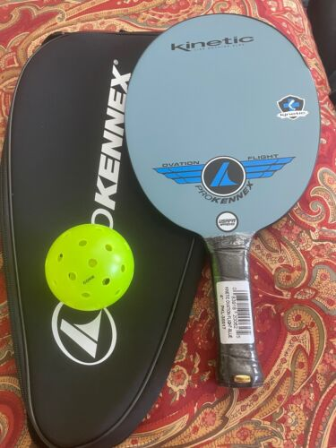 New Blue ProKennex Kinetic Ovation Flight Paddle with Cover plus CORE pickleball
