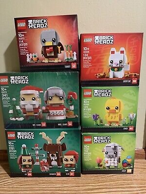 Lego Brickheadz Christmas Easter 6 Lot 40274 40380 40436 40273 40353 40350 NEW