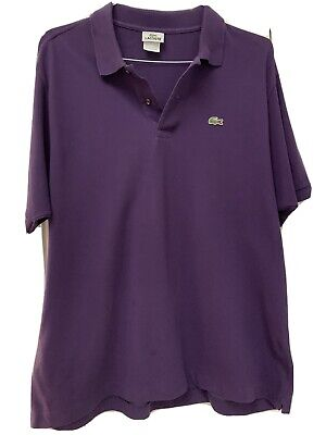 Lacoste Mens Polo Shirt Size 7 XL Purple Pique