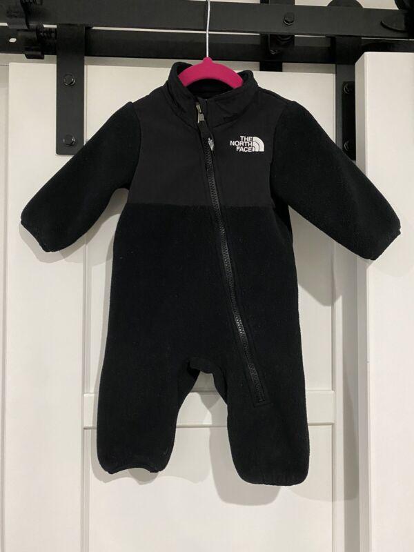 The North Face Denali Snow Suit Size 3-6 Months Black Fleece