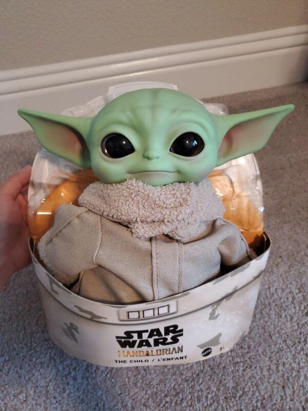 BABY YODA PLUSH The Child Mandalorian Star Wars 11 inch Disney Mattel Official
