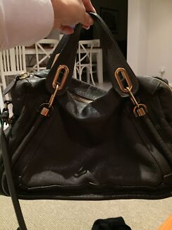 Chloe Paraty Grey Leather Large Bag -Rock Karrinyup Stirling Area Preview
