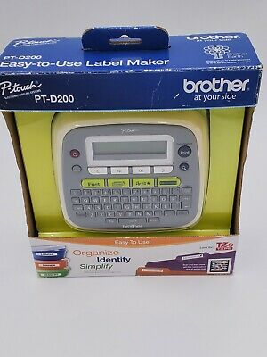 Brother P-touch Pt-d200 Label Maker Printer Office Home Equipment
