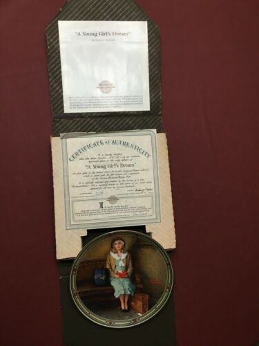 """1985 - Edwin M. Knowles Limited Ed. - """"A Young Girl"""