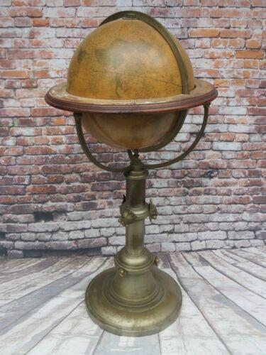 "Antique Circa 1892 Terrestrial Globe H.B. Nims & Co. Troy New York 16"" Diameter"
