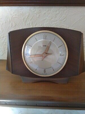 Metamec Vintage Wooden Mantle Clock, Restored