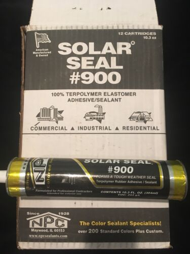 Solar Seal #900 12 Tubes Of ClearAdhesive Sealant Caulk 95