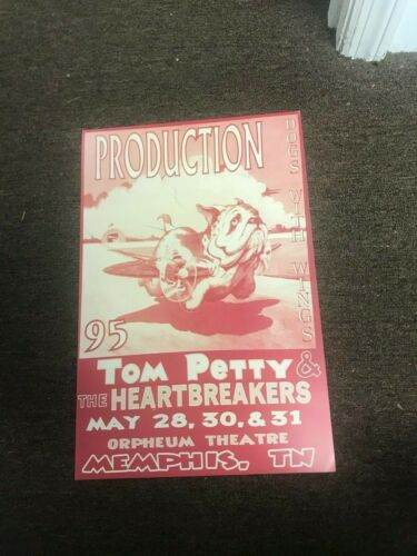 Tom Petty & The Heartbreakers 1995 Dogs With Wings Memphis Concert Poster 12x18