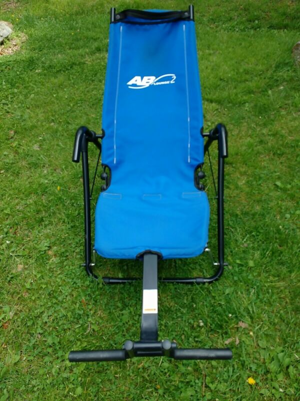 AB LOUNGE 2 Workout Fitness Exercise Bluel Lounger Crunch Chair Pick Up Only