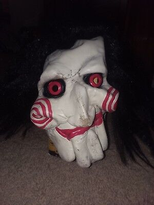 Scary Halloween Killer Clown Latex with Hair Mask Jigsaw Movie Jig Saw Clown