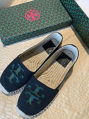 NEW Tory Burch Slip On Espadrilles Flats Shoes size 8-8.5