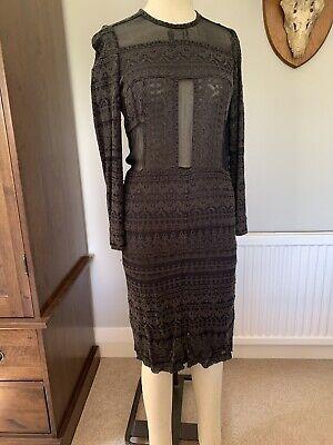 Isabel Marant Khaki Viscose Lace Dress Size 38