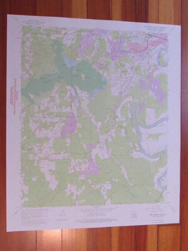West Monroe South Louisiana 1975 Original Vintage USGS Topo Map