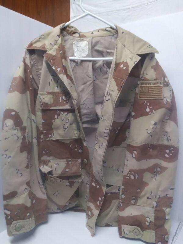 Vintage U.s. Army Desert Shield Field Jacket Desert Camo Size Medium