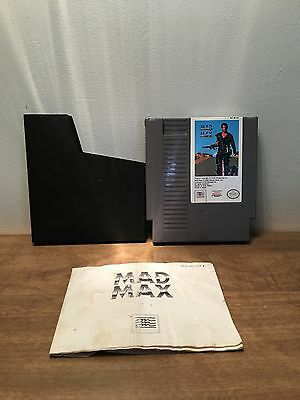 Mad Max  Nintendo Entertainment System Nes  1990  W  Manual