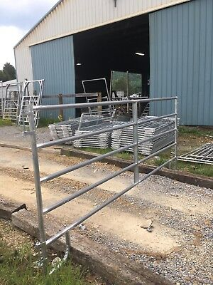 NEW 50' HORSE ROUND PEN  ARENA CORRAL PANELS W/BOW GATE