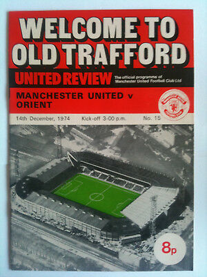 1974/75  Manchester United v Orient 2nd Division