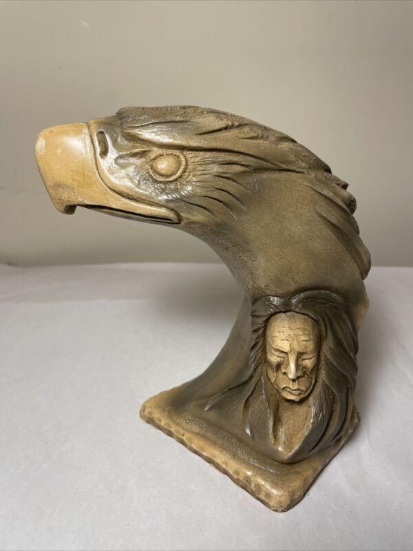 "Native American Indian Thomas B. Maracle Art Sculpture ""Spirit Carrier"""