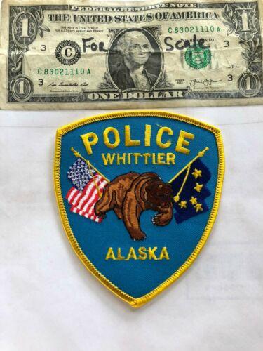 Whittier Alaska Police Patch Un-Sewn in great shape
