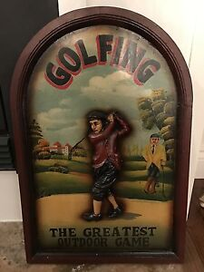 Golf 3D picture wood, man cave time! Available if still posted London Ontario image 1