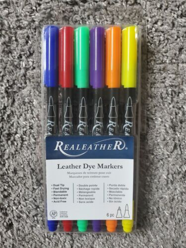 Realeather Leather Dye Markers, 6pc