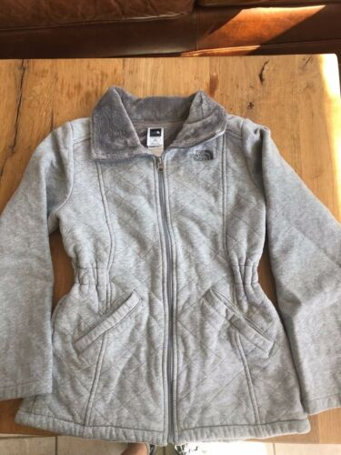 The North Face Cotton Quilted Fleece Lining Grey Girl