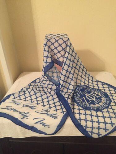 Zeta Phi Beta Sorority Inc. blue and white 100 yr scarf