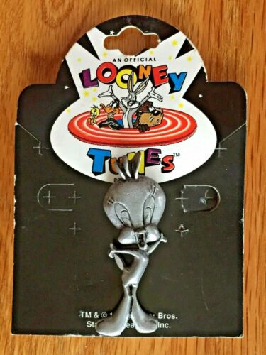 Warner Bros TWEETY BIRD Looney Tunes 1992 Collector Pewter Pin on Original Card