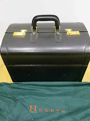 Henrys London Gentlemen's Luxury Leather Travel Case Gladstone Style REDUCED