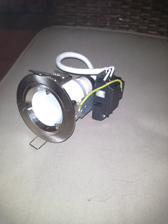 Downlight chrome with globe GU10 13w cfl