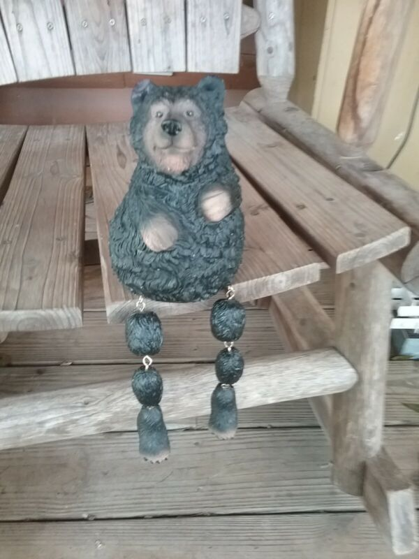 Vintage Black Bear Home Decor Shelf Sitter