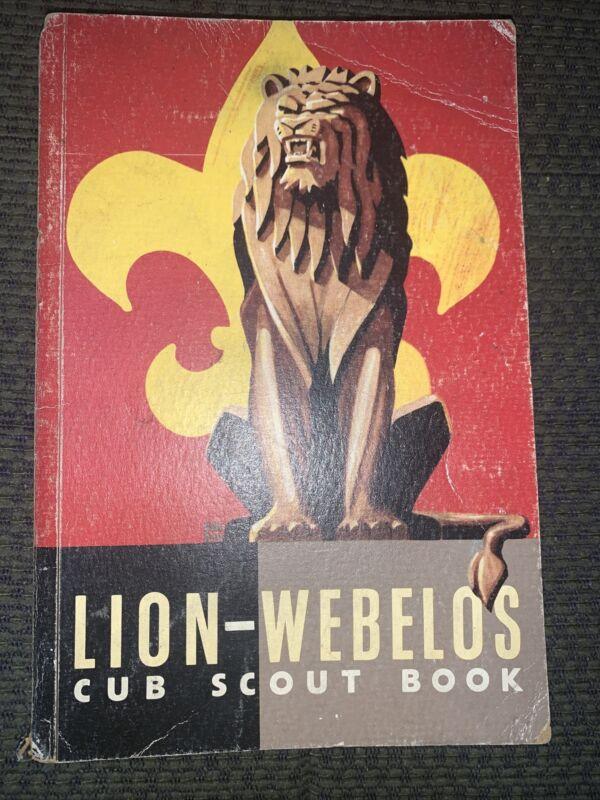 1954  Boy Scout Lion Webelos Cub Scout Book  BSA