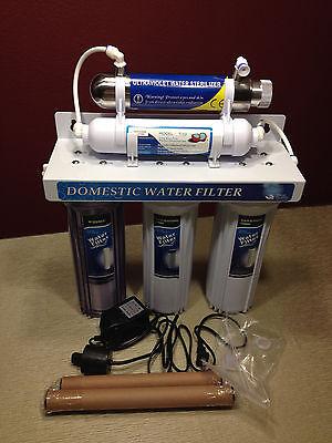 Ultraviolet UV Light Under Sink Five Stage Drinking Water Filter System