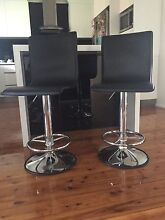 Faux leather black swivel bar stools set Wollongong 2500 Wollongong Area Preview