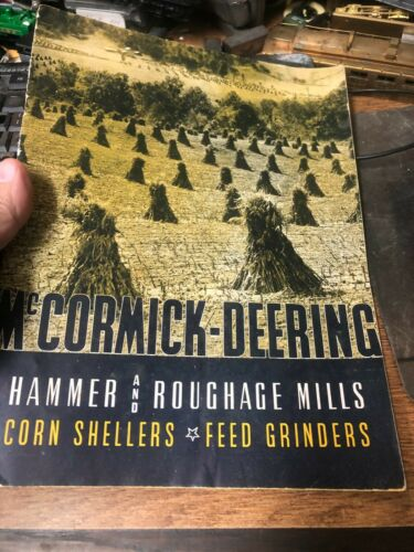 OLD VINTAGE McCormick Deering hammer rough mills sheller grinders color catalog