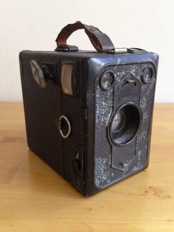 Antique Box Camera, Zeiss, Germany.