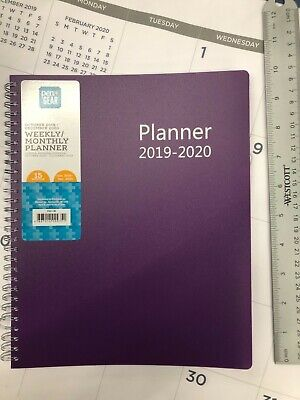 Pengear 2020 Weekly Monthly Planner Calendar Purple 10 X 8 With Lighted Pen