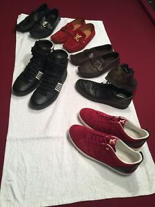 Louis Vuitton and saint Laurent shoes and Hugo boss