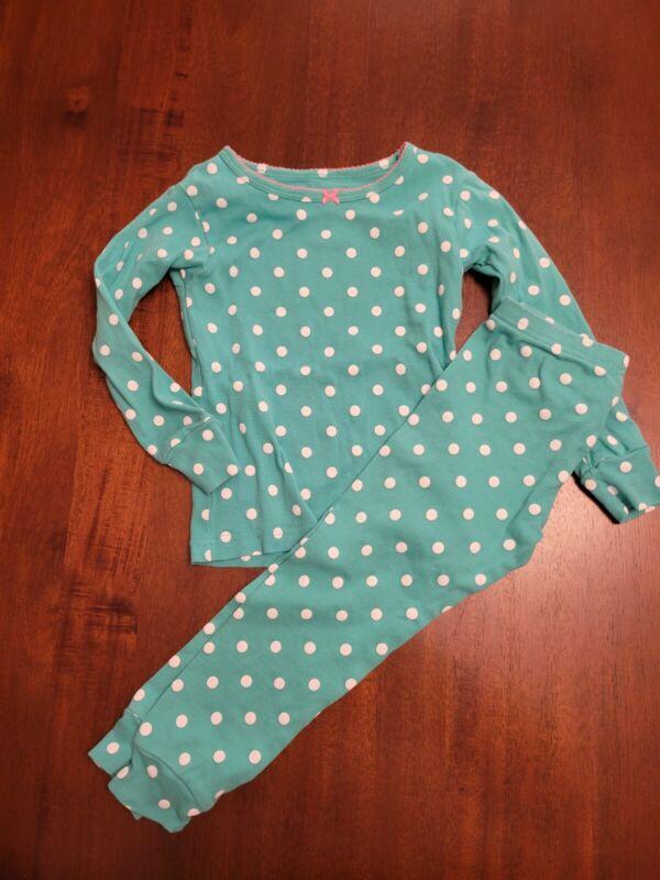 Girls Carters Two Piece Pajama Set Size 3t Polka Dot