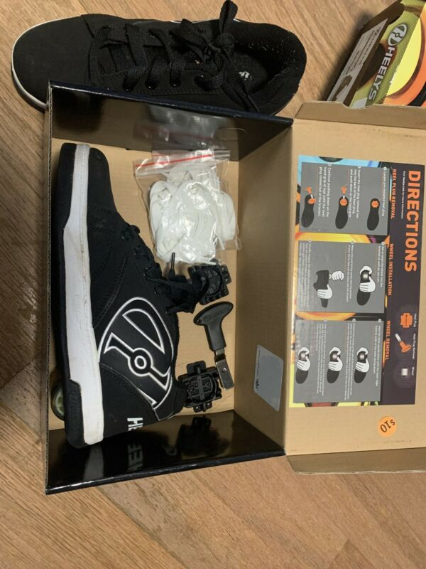 Black And White Heelys Youth 6