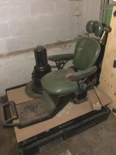 Antique dentist barber chair