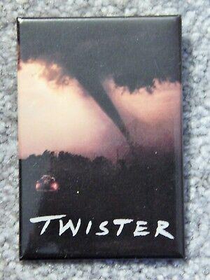 TWISTER  (VIDEO DEALER LARGE PROMO PIN 1990S) HELEN HUNT, BILL PAXTON, JAMI GERT