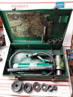 Greenlee 7306 12 - 2 Conduit Hydraulic Knockout Punch Driver Set Ed4u 9029