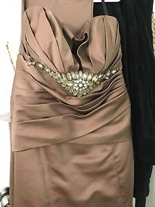 Broached Dress in light brown color size 10-12
