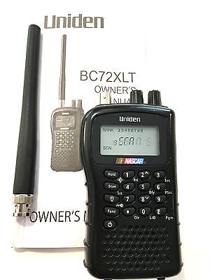 Uniden BC72XLT Scanner  Police  Fire  EMS  Nascar Weather  Military Radio