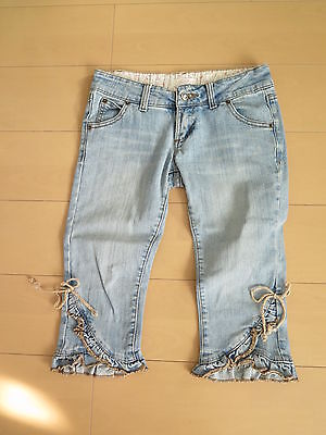 LIZ LISA Casual half Jeans Lolita Hime Gyaru Denim Jeans Pants Very Cute (pa6)
