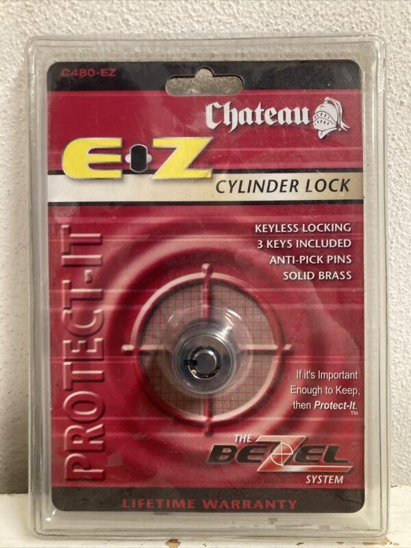 Chateau Cylinder Self Storage Lock C480-EZ Bezel Lock with 3 Keys New