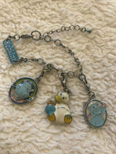 Webkinz Charm Lot: Bracelet + 3 Charms, Duck, Hippo